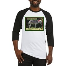 Helaine's Zebra Christmas Baseball Jersey