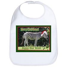 Helaine's Zebra Christmas Bib
