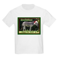 Helaine's Zebra Christmas Kids T-Shirt