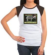Helaine's Zebra Christmas Women's Cap Sleeve T-Shi