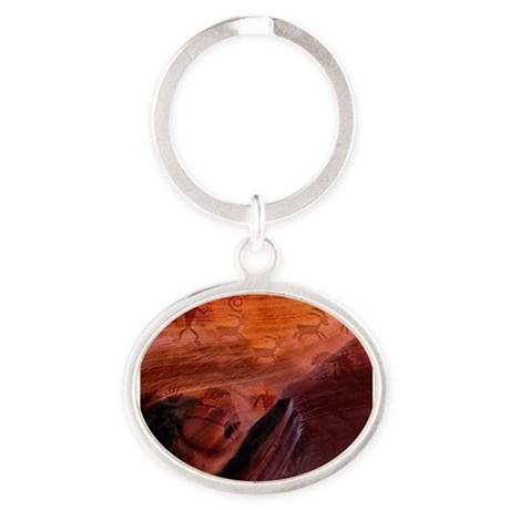 Ancient Herdsman Oval Keychain