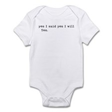 yes I will Infant Bodysuit