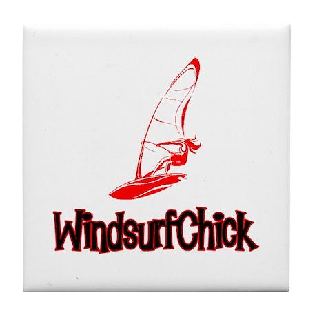 WindsurfChick Logo Tile Coaster