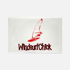 WindsurfChick Logo Rectangle Magnet