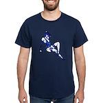 Blue Pin-up Girl Blue T-Shirt