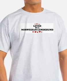 Loved: Norwegian Lundehund Ash Grey T-Shirt