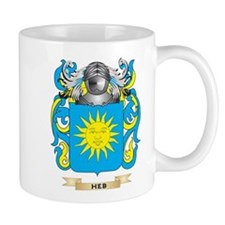 Heb Coat of Arms (Family Crest) Small Mugs