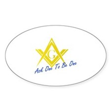 Recruit New Masons Oval Decal