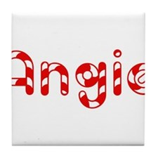 Angie - Candy Cane Tile Coaster