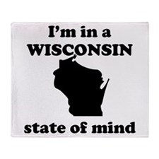 Im In A Wisconsin State Of Mind Throw Blanket
