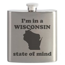 Im In A Wisconsin State Of Mind Flask
