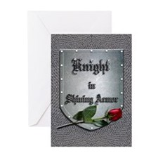 Knight in Shining Armor Rose Greeting Cards (Pk of