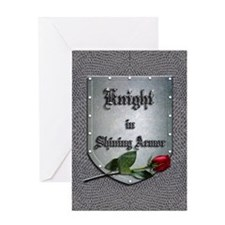 Knight in Shining Armor Rose Greeting Card