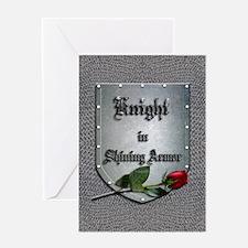 Knight in Shining Armor Rose Greeting Card
