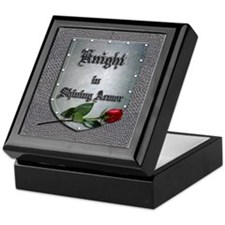 Knight in Shining Armor Rose Keepsake Box