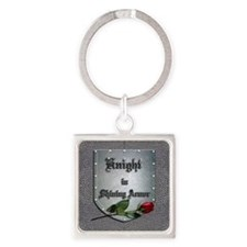 Knight in Shining Armor Rose Keychains