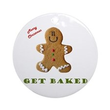 Get Baked Gingerbread Man Ornament (Round)
