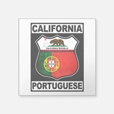 California Portuguese American Sticker