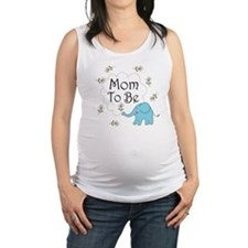 Mom to Be Maternity Elephant Maternity Tank Top
