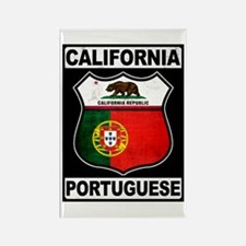 California Portuguese American Rectangle Magnet