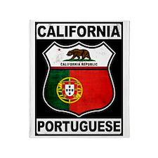 California Portuguese American Throw Blanket