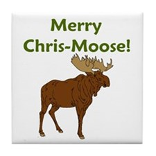 JUST DISCOUNTED... Merry Chris-Moose! Tile Coaster