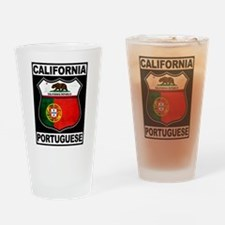 California Portuguese American Drinking Glass