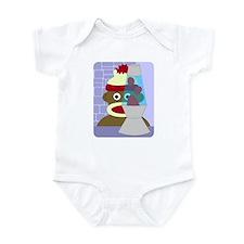 Sock Monkey Retro Lava Lamp Infant Bodysuit