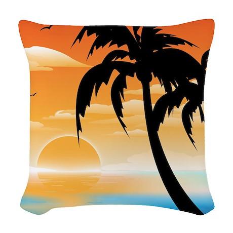 Sunset, Woven Throw Pillow