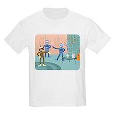 Sock Monkey Robot Cocktail Party Kids T-Shirt