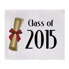 Class of 2015 Diploma Throw Blanket