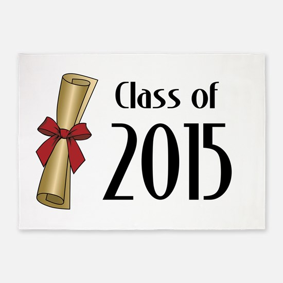 Class of 2015 Diploma 5'x7'Area Rug