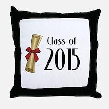 Class of 2015 Diploma Throw Pillow