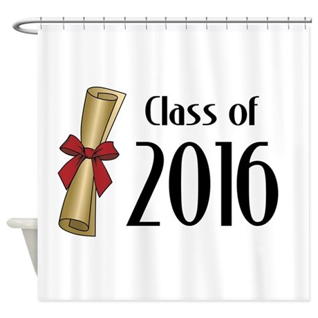 Class Of 2016 Diploma Shower Curtain By MightyClass