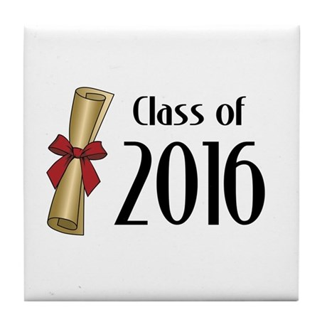 Class of 2016 Diploma Tile Coaster by MightyClass: www.cafepress.com/+class_of_2016_diploma_tile_coaster,916125318