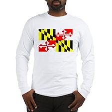 Maryland Flag Long Sleeve T-Shirt