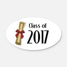 Class of 2017 Diploma Oval Car Magnet