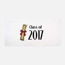 Class of 2017 Diploma Beach Towel