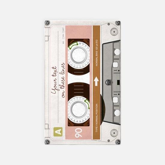 Cassette Tape - Tan 3'x5' Area Rug