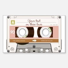 Cassette Tape - Tan Decal