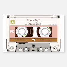 Cassette Tape - Tan Sticker (Rectangle)