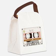 Cassette Tape - Tan Canvas Lunch Bag
