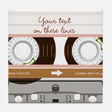 Cassette Tape - Tan Tile Coaster
