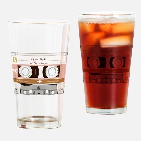 Cassette Tape - Tan Drinking Glass