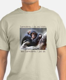 Monkey Sits T-Shirt