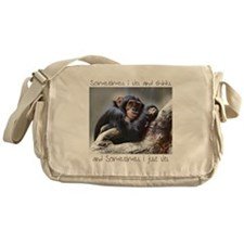 Monkey Sits Messenger Bag