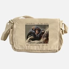 Monkey Sits Messenger Bag