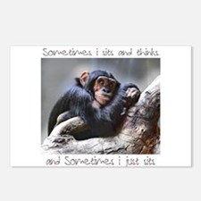 Monkey Sits Postcards (Package of 8)