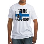 Finland Rocks Fitted T-Shirt