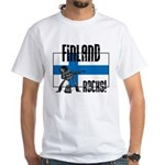 Finland Rocks White T-Shirt